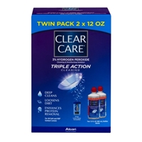 Clear Care Triple Action Cleaning Twin Pack Food Product Image