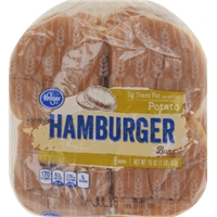 Kroger Potato Hamburger Buns Food Product Image