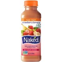 Naked 100% Juice Smoothie Pure Fruit Strawberry Banana Food Product Image