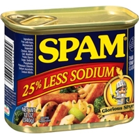 Spam 25% Less Sodium Food Product Image