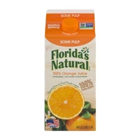 Florida's Natural 100% Orange Juice Some Pulp Food Product Image