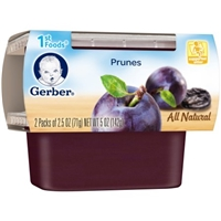 Gerber All Natural 1st Foods Prunes - 2 PK Food Product Image