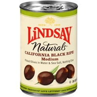 Lindsay Naturals California Black Ripe Olives Food Product Image