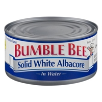 Bumble Bee Solid White Albacore In Water Food Product Image