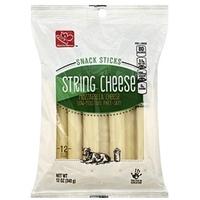Harris Teeter String Cheese Low-Moisture, Mozzarella Cheese, Part-Skim Food Product Image