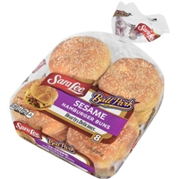 Sara Lee White Sesame Seed Hamburger Buns Food Product Image