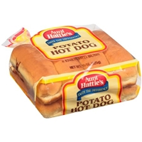 Aunt Hattie's Potato Hot Dog Buns Food Product Image