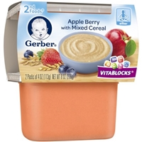 Gerber 2nd Foods Apple Berry with Mixed Cereal - 2 CT Food Product Image