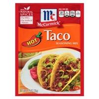 McCormick Hot Taco Seasoning Mix 1.25 oz Food Product Image