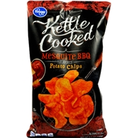 Kroger Kettle Cooked Potato Chips - Mesquite BBQ Food Product Image