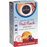 Roundy's Sugar & Calorie Free Fruit Punch Drink Mix Packets Food Product Image