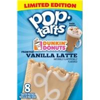 Kellogg's Pop Tarts Dunkin Donuts Vanilla Latte Toaster Pastries Food Product Image