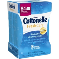 Cottonelle FreshCare Flushable Cleansing Cloths - 84 CT Food Product Image