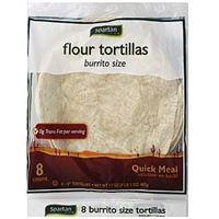 Spartan Tortillas Flour, Burrito Size Food Product Image