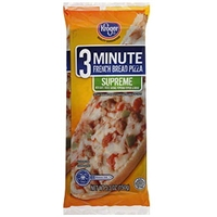 Kroger Pizza 3 Minute French Bread, Supreme Food Product Image