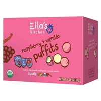 Ella's Kitchen Organic Puffits Cereal Snack Stage 2 Raspberry and Vanilla 5 ct 1.06 oz Food Product Image