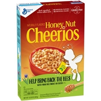 General Mills Honey Nut Cheerios Cereal Gluten Free Food Product Image