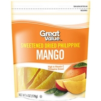 Great Value Mango Sweetened Dried Food Product Image