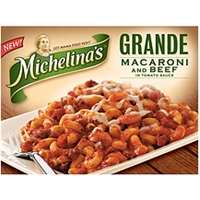 Michelina's Macaroni & Beef In Tomato Sauce Food Product Image
