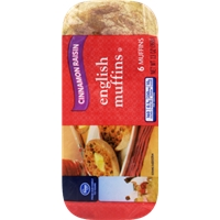 Kroger Cinnamon Raisin English Muffins Food Product Image