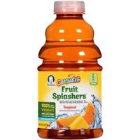 Gerber Graduates Tropical Toddler Fruit Splashers Beverage Food Product Image