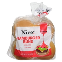 Nice! Hamburger Buns 8 pk Food Product Image