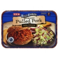 H-E-B Fully Cooked Seasoned Pulled Pork With BBQ Sauce Food Product Image