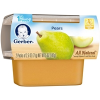 Gerber All Natural 1st Foods Pears - 2 PK Food Product Image