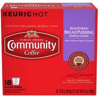 Community Coffee Southern Bread Pudding, 0.38 oz, 18 count Food Product Image