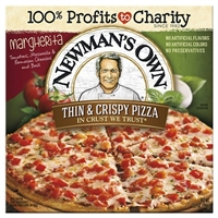 Newman's Own All Natural Thin & Crispy Margherita Pizza 13.4-oz. Food Product Image