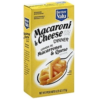 Better Valu Macaroni & Cheese Dinner Food Product Image
