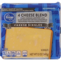 Kroger 4 Cheese Blend Singles Food Product Image