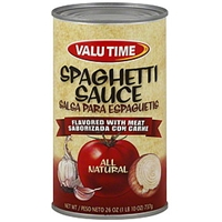 Valu Time Spaghetti Sauce Flavored With Meat Food Product Image