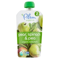Plum Organics Baby Organic Baby Food Spinach, Peas & Pear - 6+ Months Food Product Image
