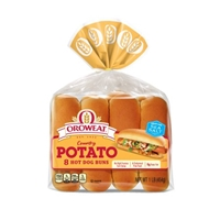 Oroweat Potato Hotdog Rolls - 8ct/15oz Food Product Image