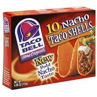 Taco Bell Taco Shells Nacho Food Product Image