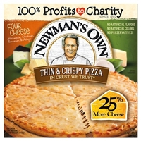 Newman's Own Thin & Crispy Crust Four Cheese Pizza 13.3-oz. Food Product Image