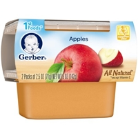 Gerber All Natural 1st Foods Apples - 2 PK Food Product Image