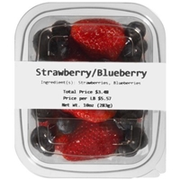 Strawberry/Blueberry Mixed Fruit Food Product Image