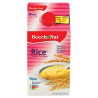 Beech-Nut Stage 1 Rice Baby Cereal Food Product Image