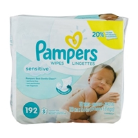 Pampers Baby Wipes Sensitive - 192 CT Food Product Image