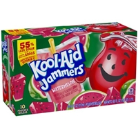 Kool-Aid Jammers Watermelon Flavored Drink 10 PK Food Product Image