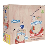 Gerber Graduates Grabbers Pudding Pouch Strawberry Food Product Image