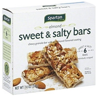 Spartan Granola Bars Sweet & Salty, Almond Food Product Image