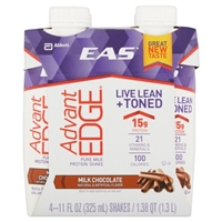EAS Advant Edge Pure Milk Protein Shake Milk Chocolate - 4 PK Food Product Image