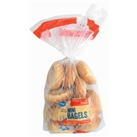 Kroger Plain Mini Bagels Food Product Image