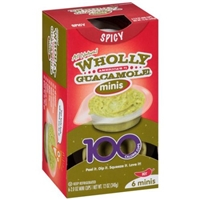 Wholly Guacamole Minis 100 Calorie Mini Cups Spicy - 6 CT Food Product Image