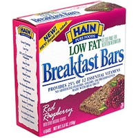 Hain Breakfast Bars Red Raspberry Food Product Image