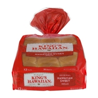 King's Hawaiian Original Hawaiian Sweet Rolls - 12 CT Food Product Image