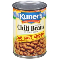 Kuner's No Salt Added Chili Beans in Chili Sauce Food Product Image